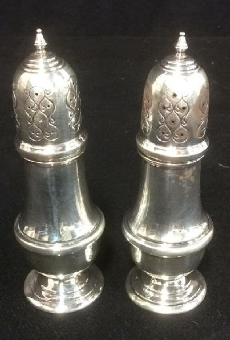 B & M Sterling Silver Salt and Pepper Shakers