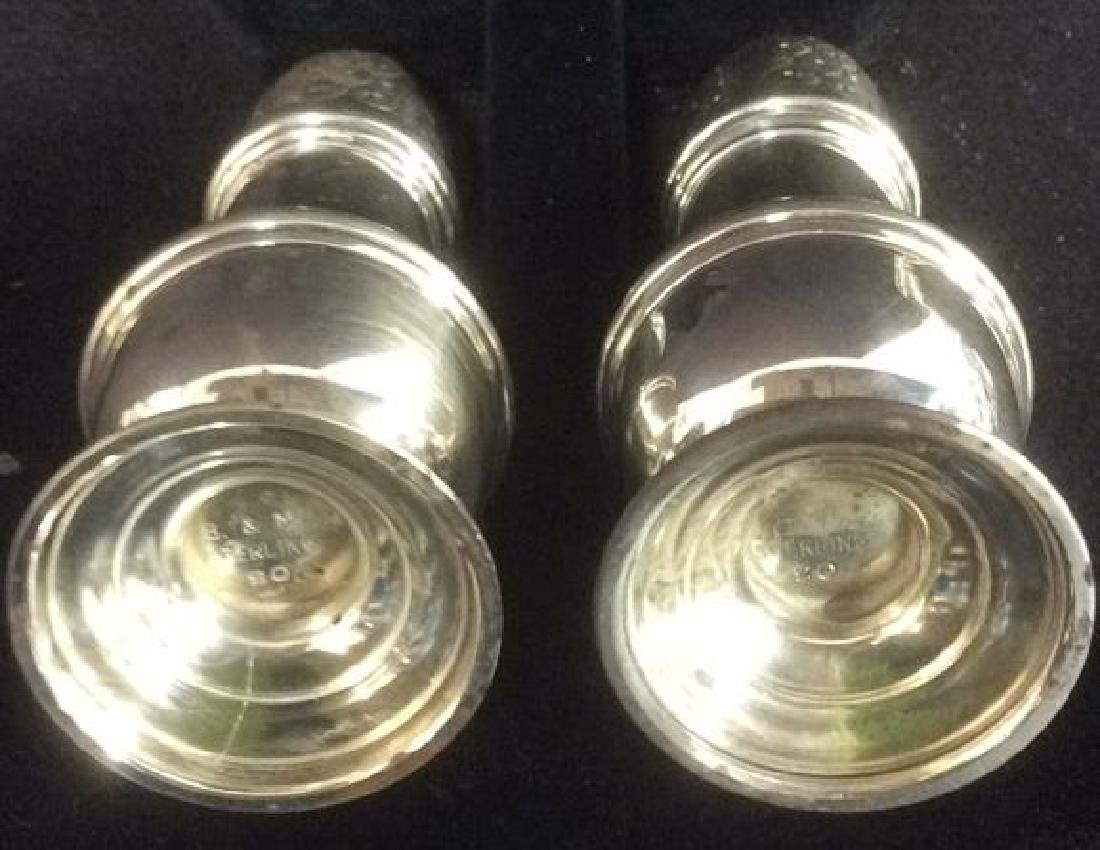 B & M Sterling Silver Salt and Pepper Shakers - 2