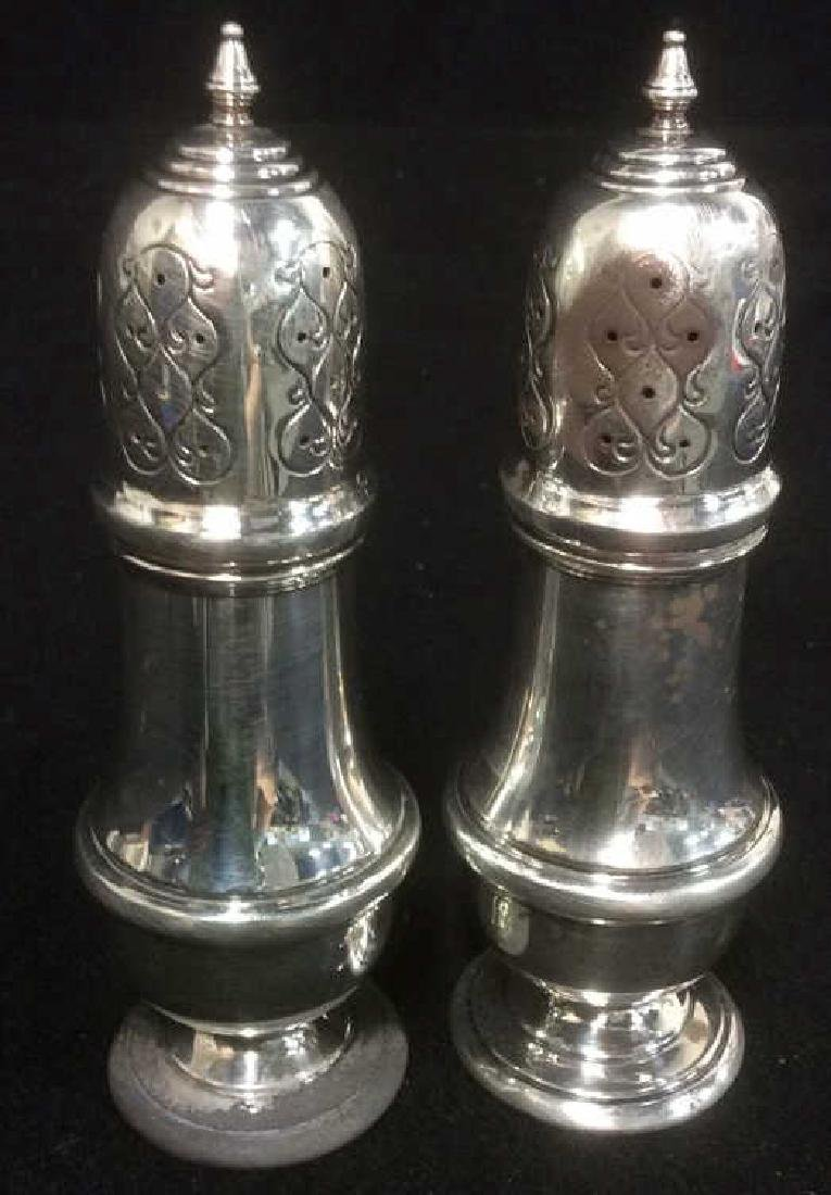 B & M Sterling Silver Salt and Pepper Shakers - 8