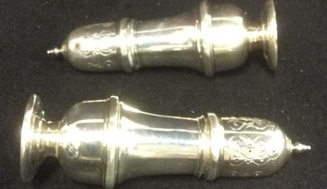 B & M Sterling Silver Salt and Pepper Shakers - 9