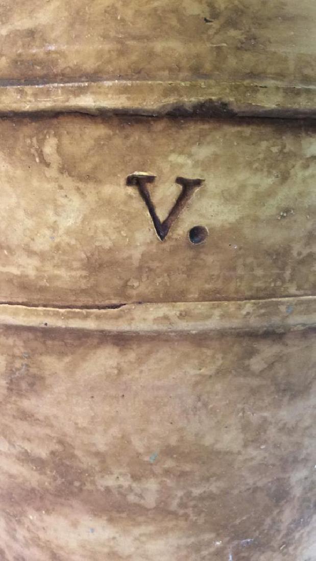 Roman Numeral Detailed Ceramic Pot - 10