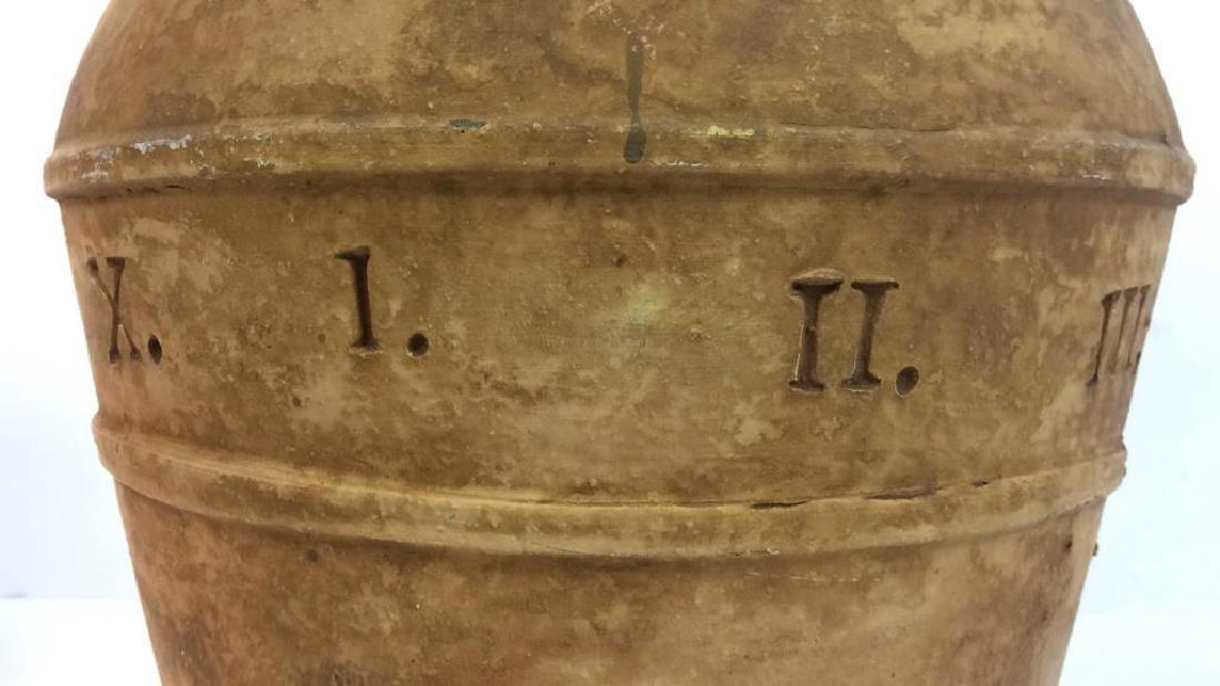 Roman Numeral Detailed Ceramic Pot - 4