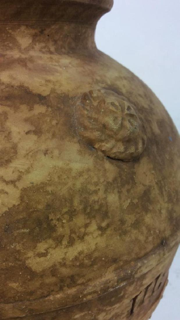 Roman Numeral Detailed Ceramic Pot - 5