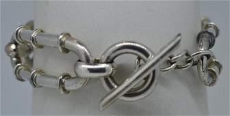 """Ladies 7.25"""" Silver Plated Bracelet"""