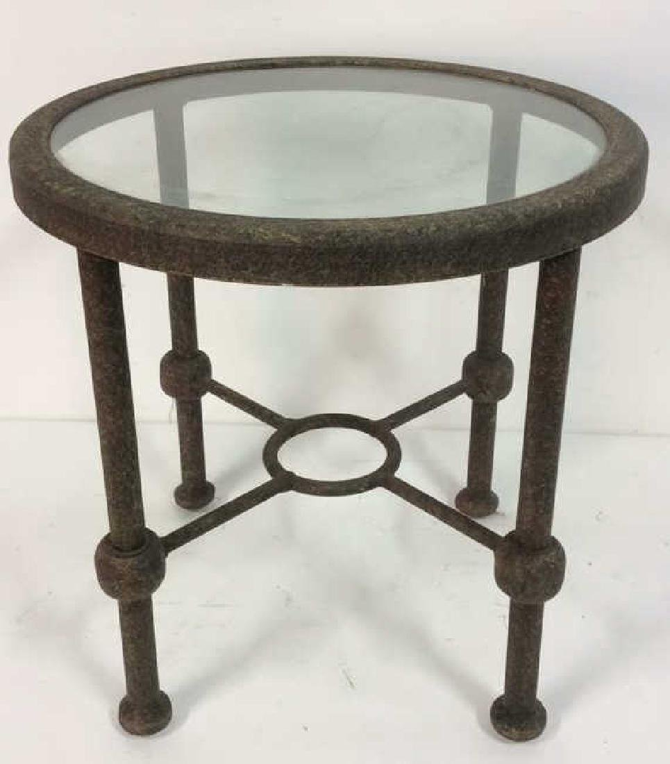 Indoor or Outdoor Metal Side Table