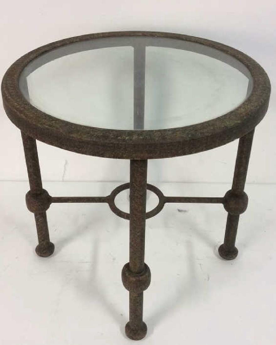Indoor or Outdoor Metal Side Table - 2