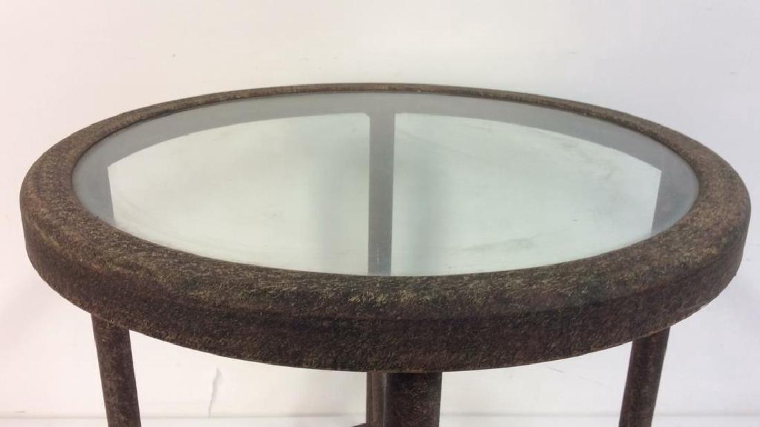 Indoor or Outdoor Metal Side Table - 3