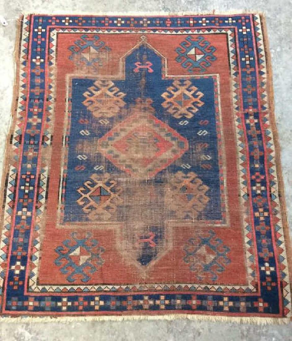 Antique Geometric Design Hand Made Rug