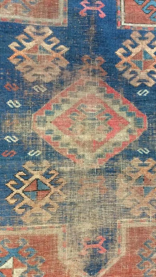 Antique Geometric Design Hand Made Rug - 4