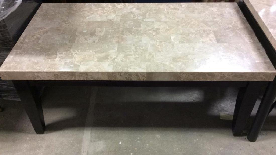 STEVE SILVER CO. Stone Top Coffee Table