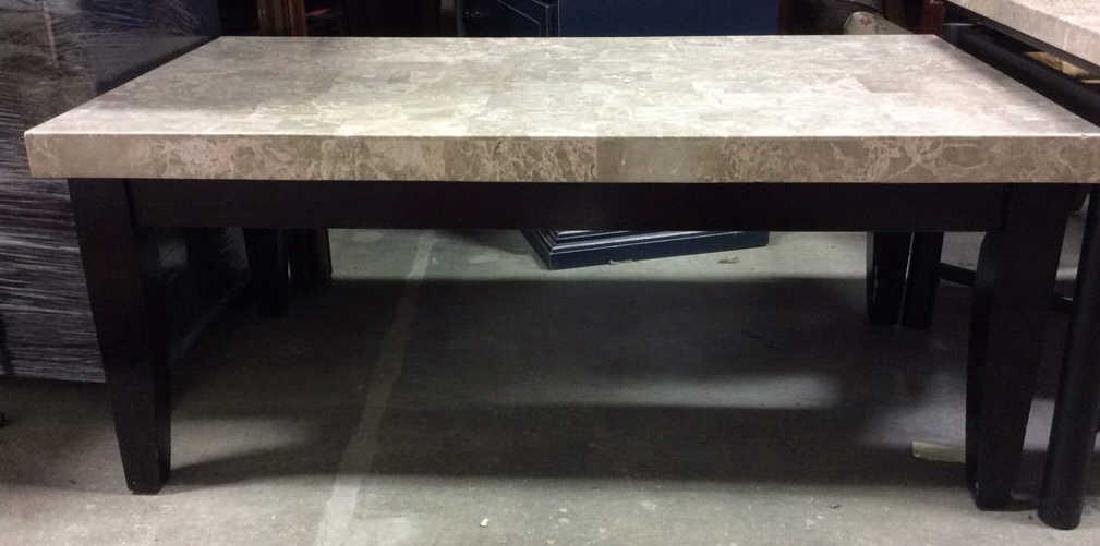 STEVE SILVER CO. Stone Top Coffee Table - 2