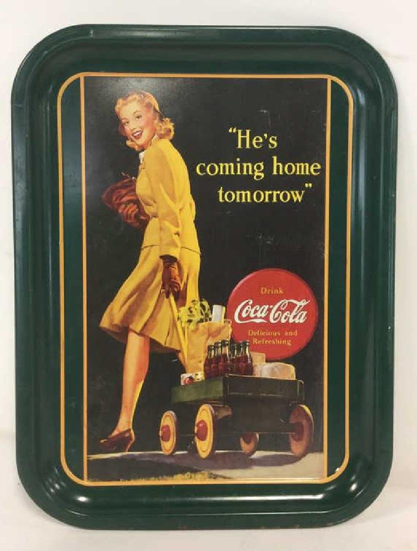 """COCA COLA """"He's Coming Home"""" Tray"""