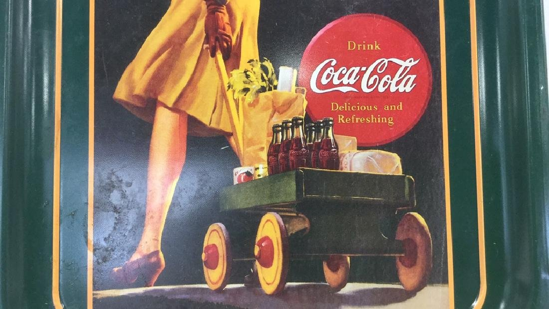 """COCA COLA """"He's Coming Home"""" Tray - 2"""