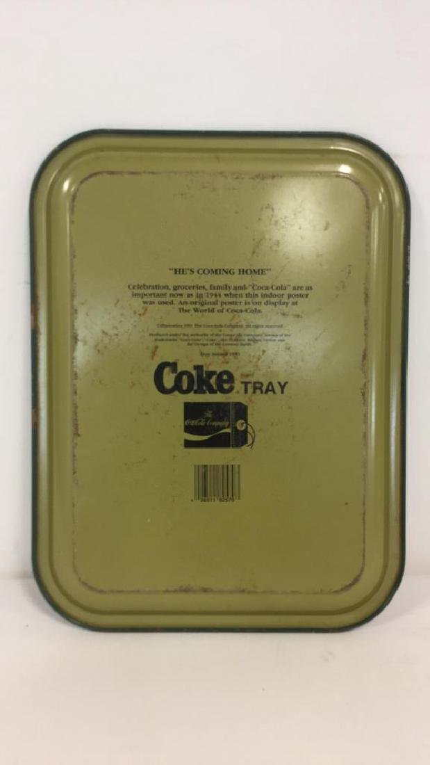 """COCA COLA """"He's Coming Home"""" Tray - 4"""