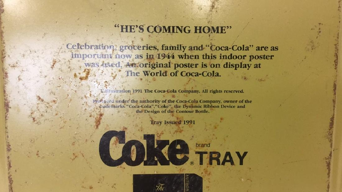 """COCA COLA """"He's Coming Home"""" Tray - 5"""