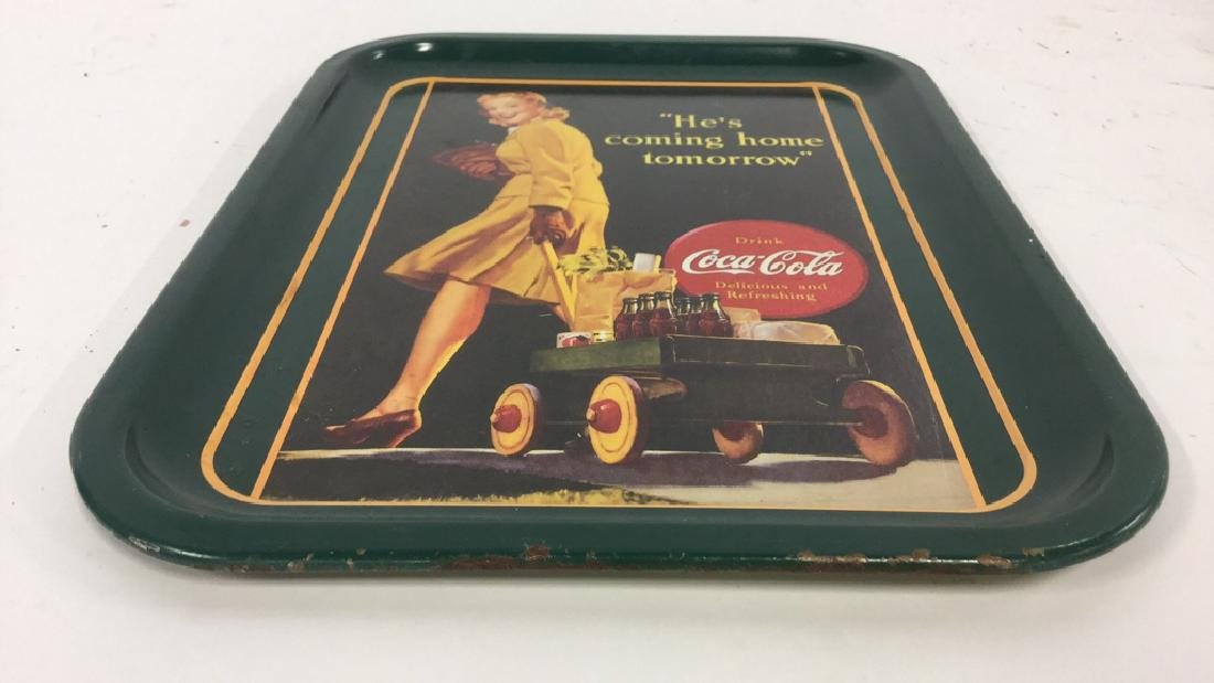 """COCA COLA """"He's Coming Home"""" Tray - 7"""