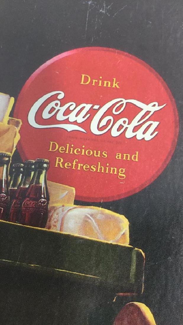 """COCA COLA """"He's Coming Home"""" Tray - 8"""
