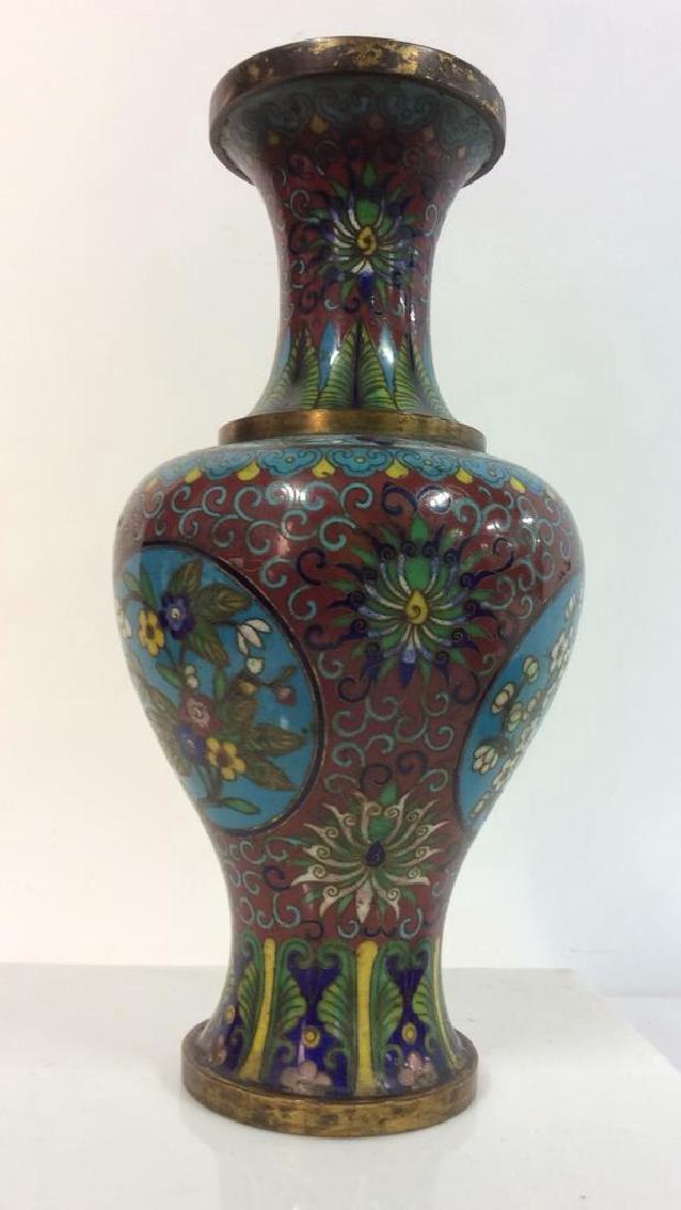 Antique Chinese Cloisonné Vase - 10