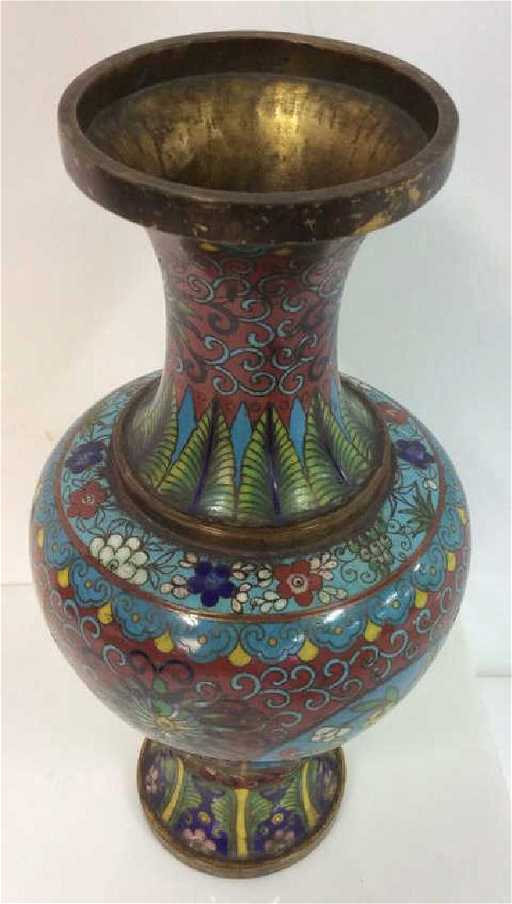 Antique Chinese Cloisonn Vase