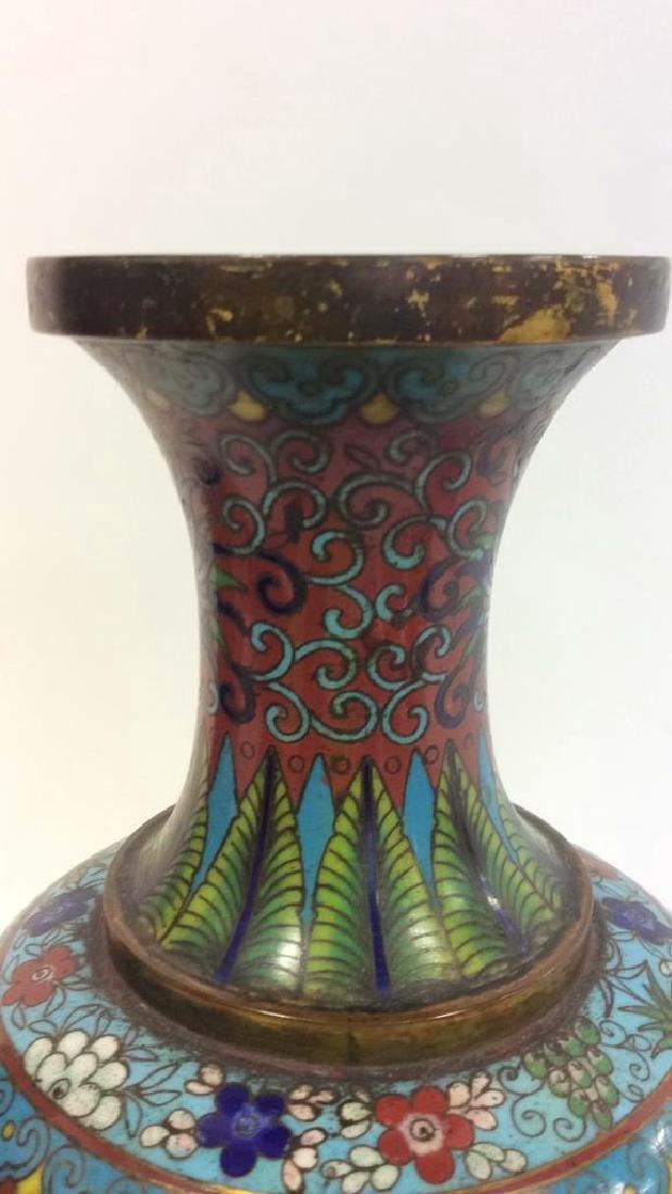 Antique Chinese Cloisonné Vase - 5