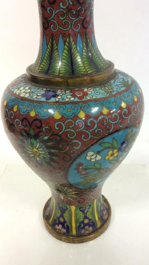 Antique Chinese Cloisonné Vase - 6