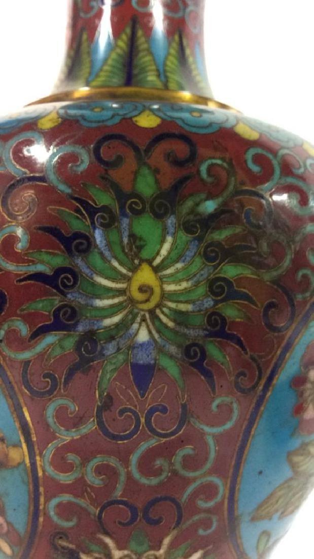 Antique Chinese Cloisonné Vase - 7