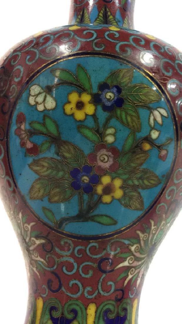 Antique Chinese Cloisonné Vase - 8