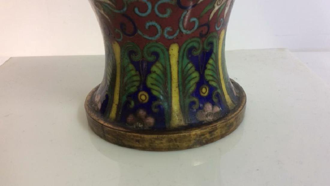 Antique Chinese Cloisonné Vase - 9