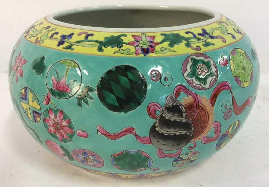 Antique Painted Chinese Planter