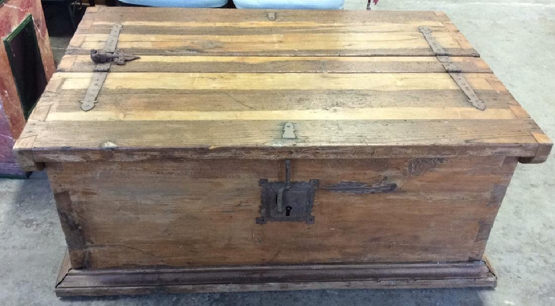 Antique Dovetailed Wooden Chest