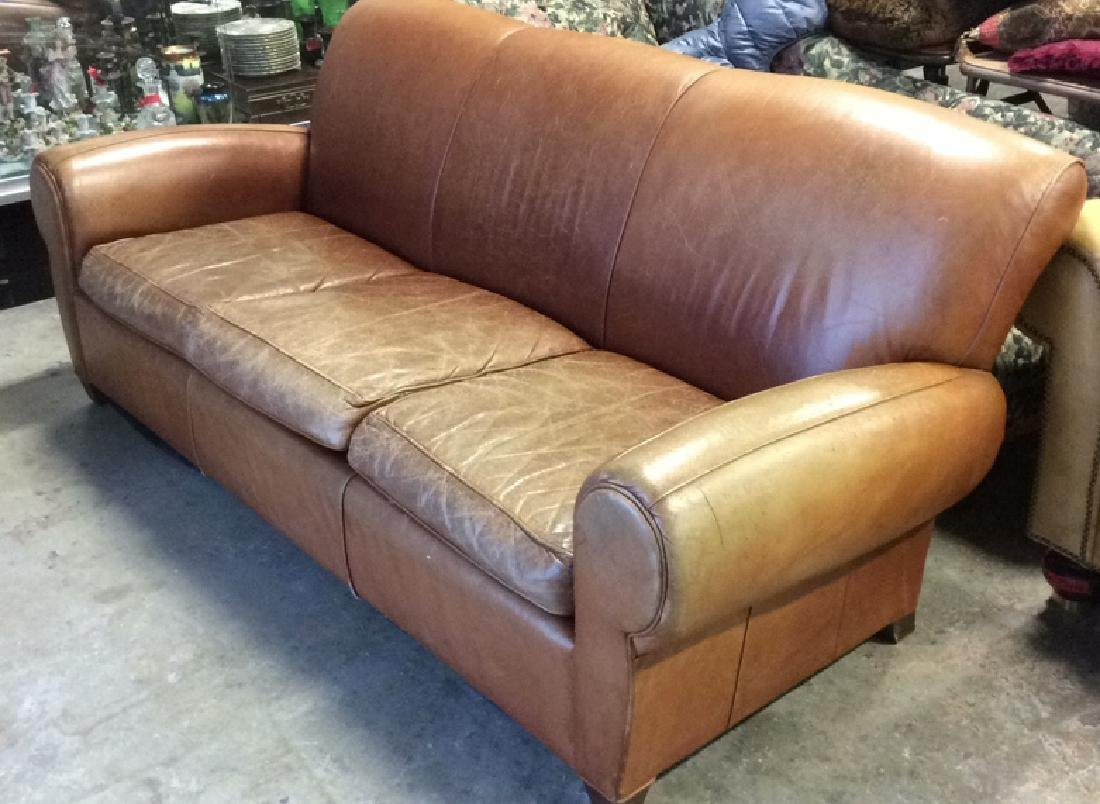 MITCHELL GOLD POTTERY BARN Leather Sofa
