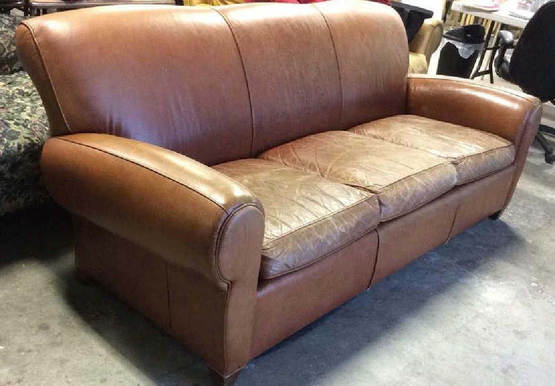 MITCHELL GOLD POTTERY BARN Leather Sofa - 2