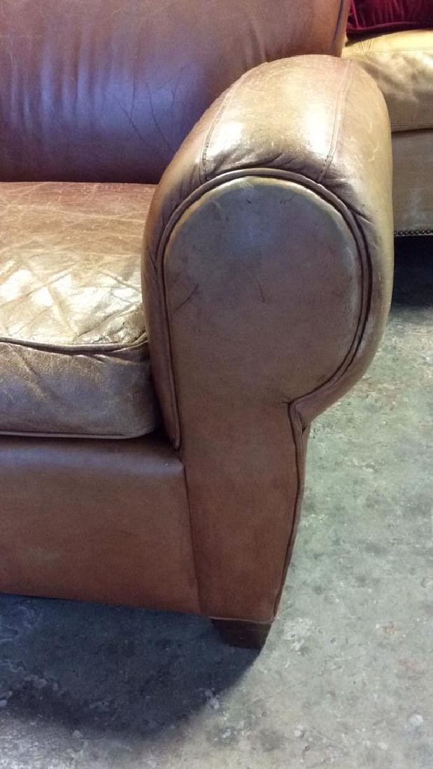MITCHELL GOLD POTTERY BARN Leather Sofa - 5