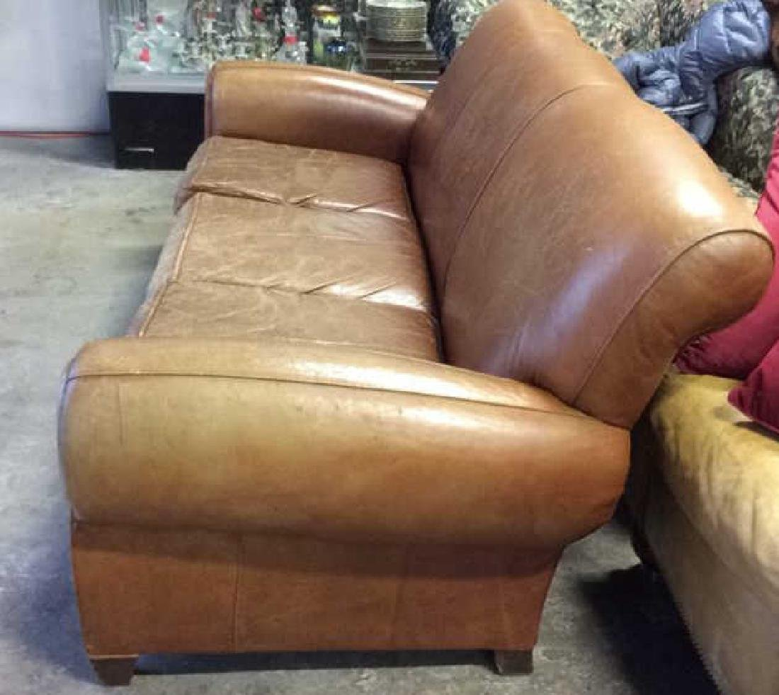 MITCHELL GOLD POTTERY BARN Leather Sofa - 9
