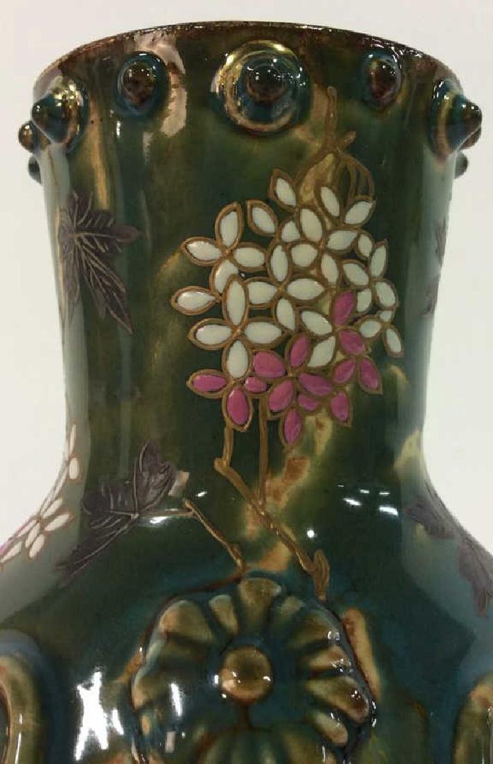 Painted English Porcelain Pitcher - 10