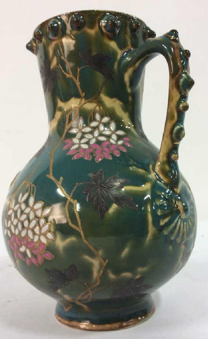 Painted English Porcelain Pitcher