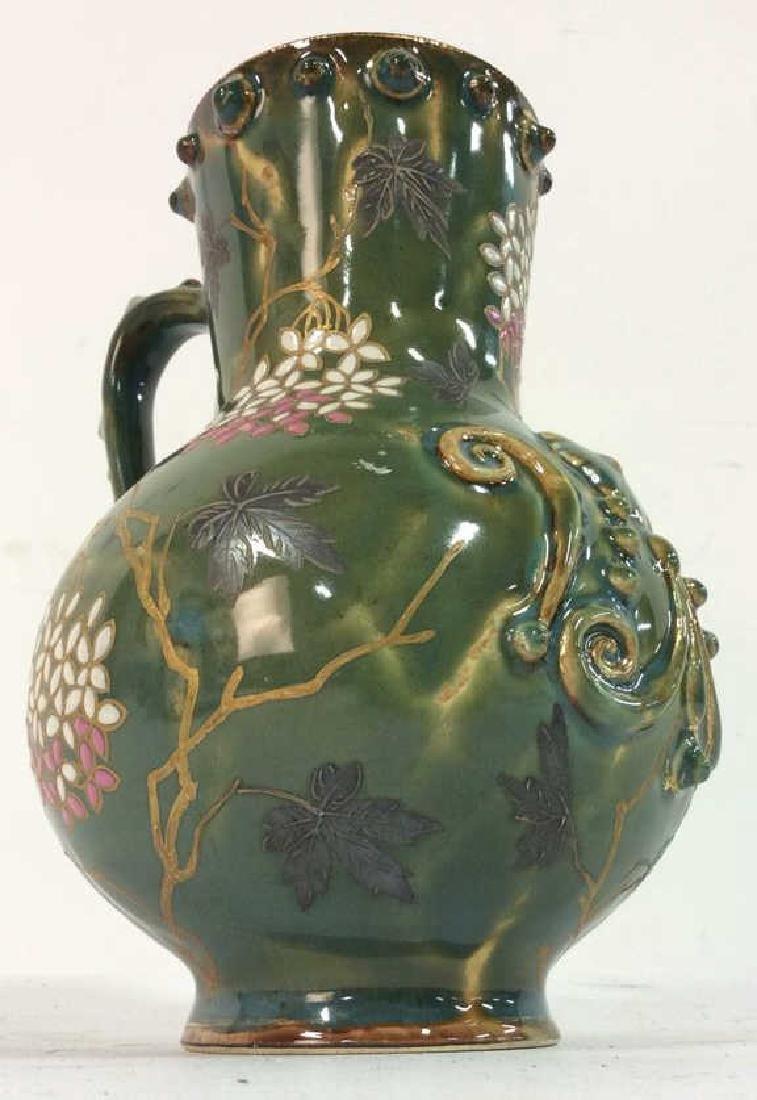 Painted English Porcelain Pitcher - 2