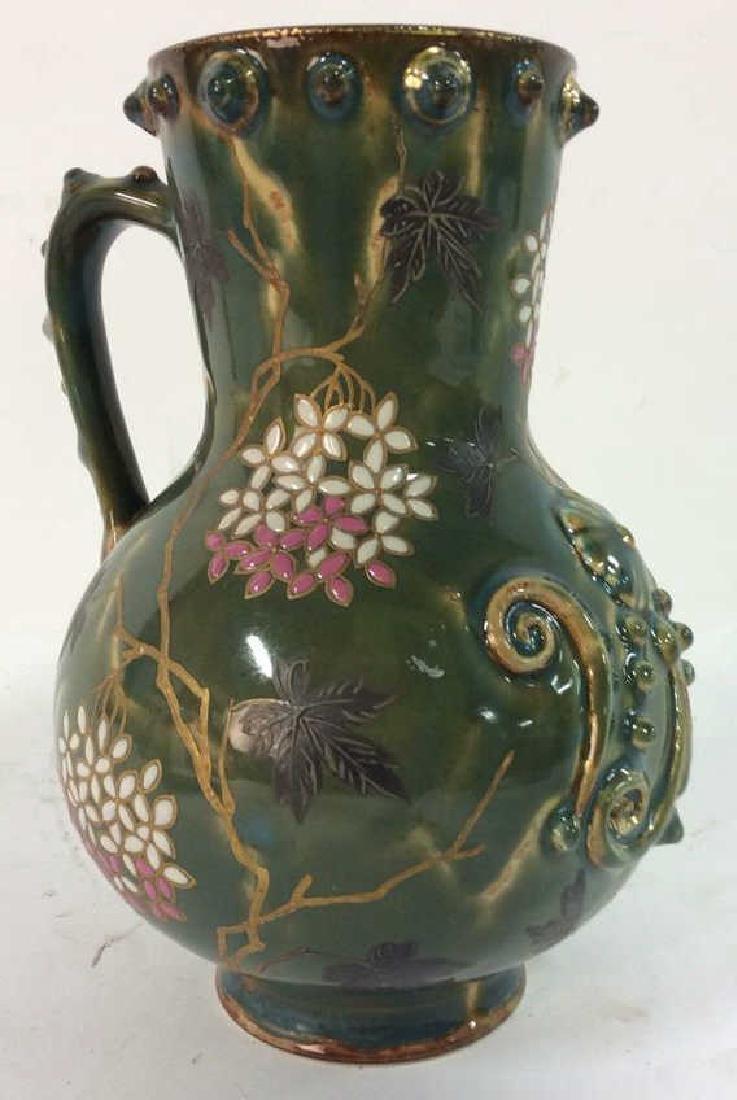 Painted English Porcelain Pitcher - 3