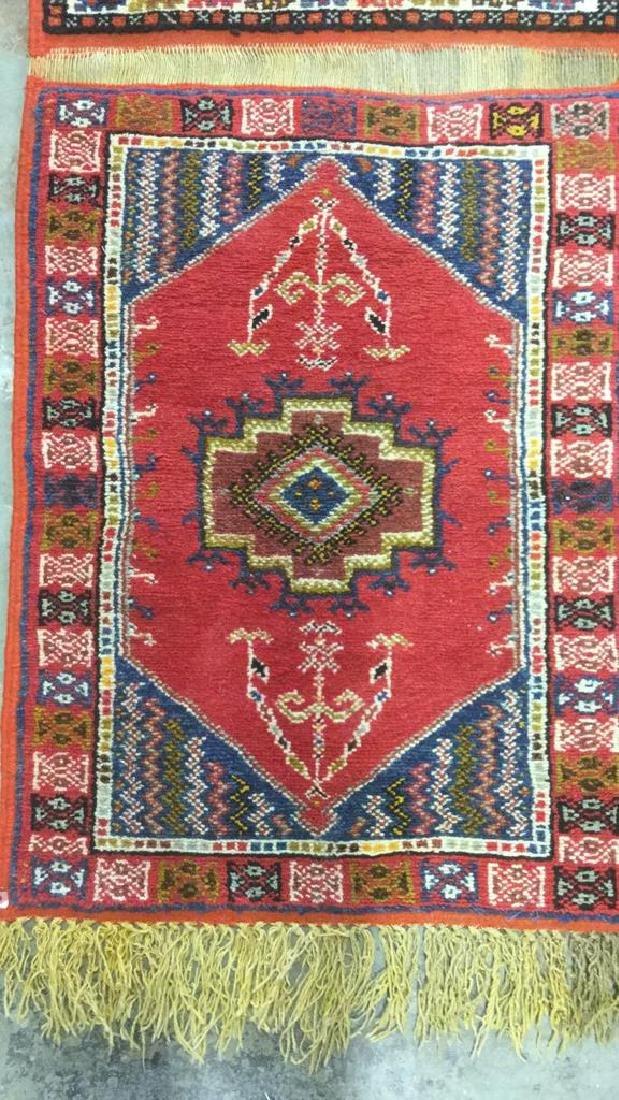 Handmade Moroccan Wool Runner Carpet - 4