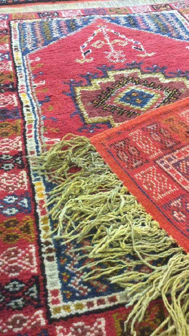 Handmade Moroccan Wool Runner Carpet - 5