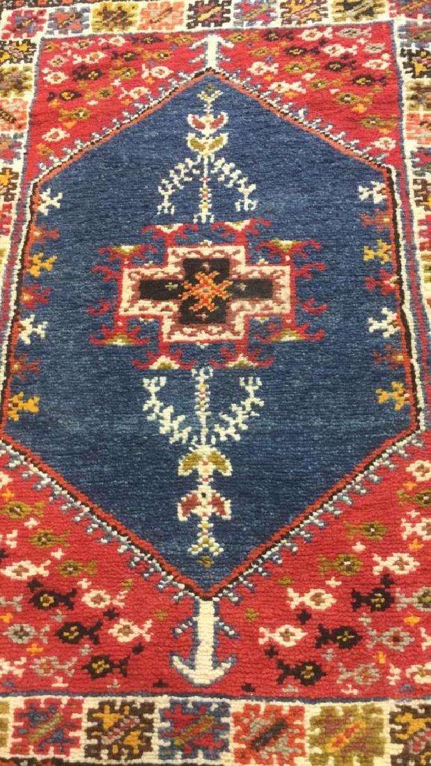 Handmade Moroccan Wool Runner Carpet - 8