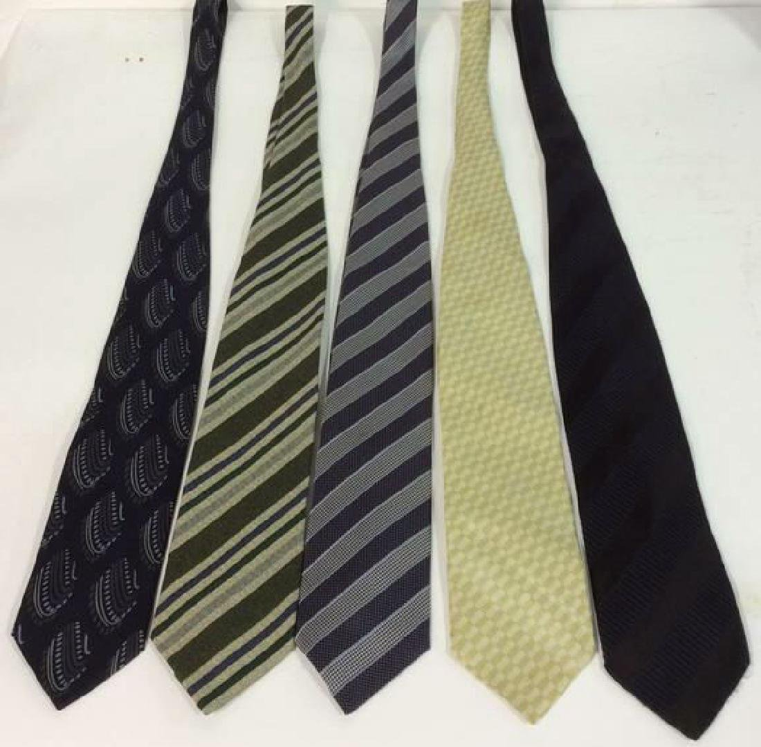 Lot 5 Assorted GEORGIO ARMANI Neck Ties