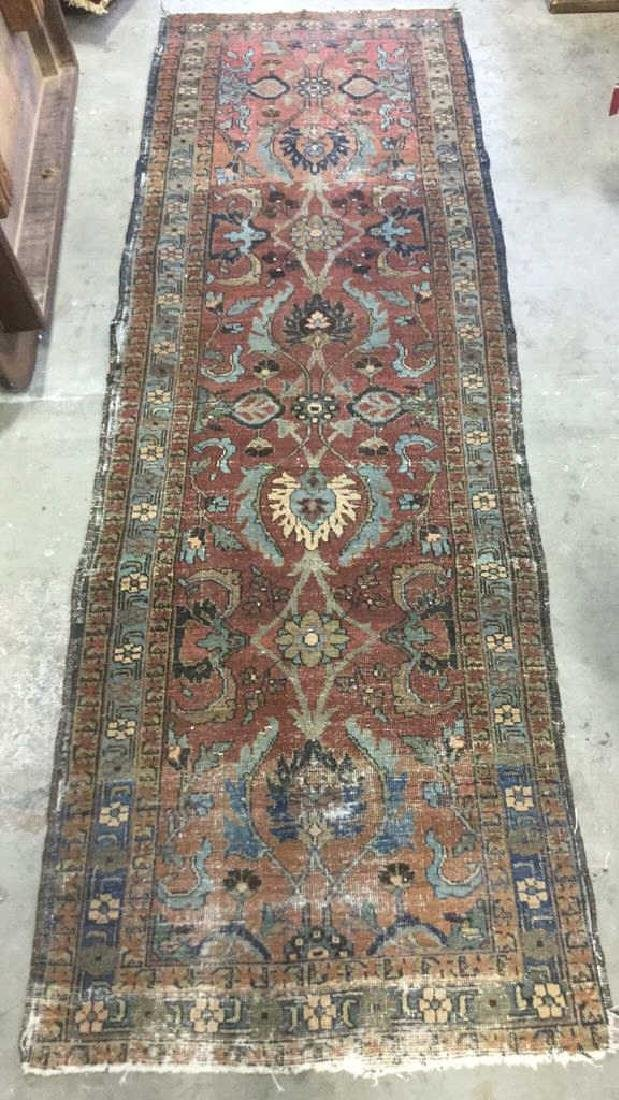 Vintage Handmade Wool Carpet Runner