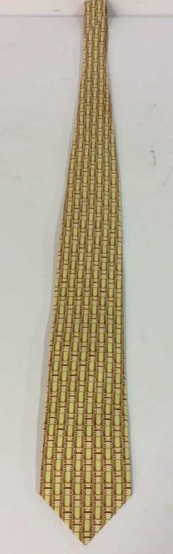 Lot 4 Assorted Gold Toned Ties W Patterns - 2