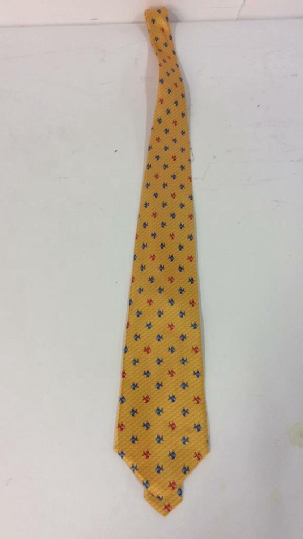 Lot 4 Assorted Gold Toned Ties W Patterns - 3