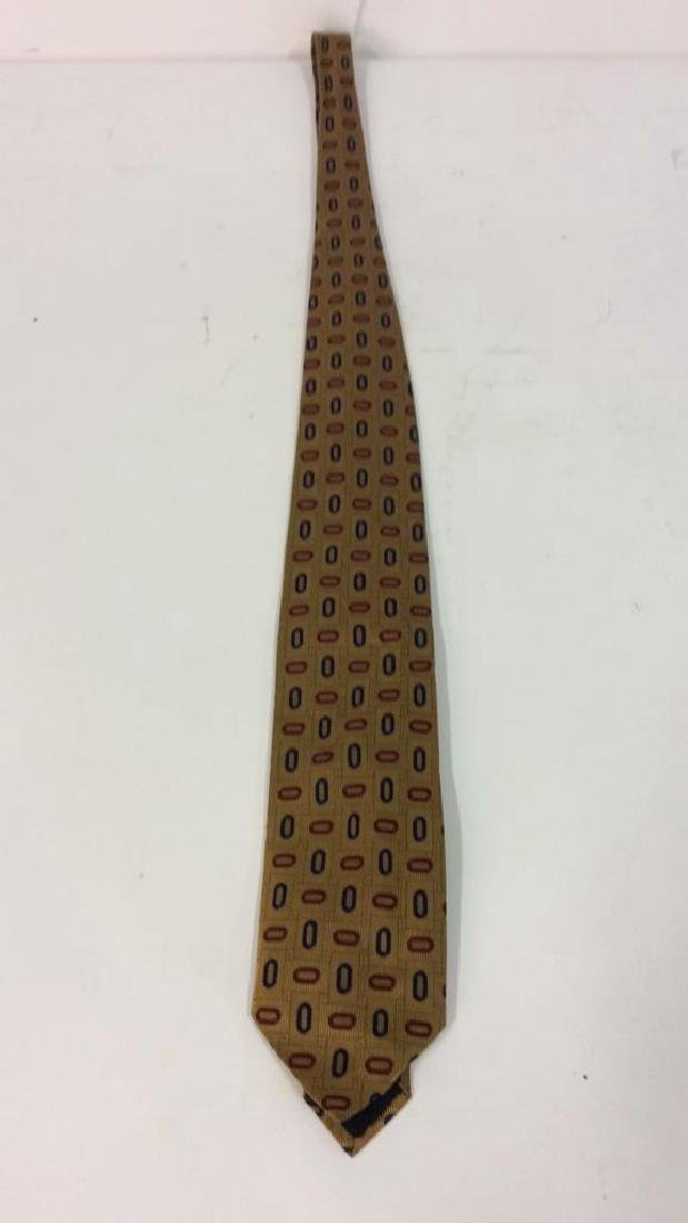 Lot 4 Assorted Gold Toned Ties W Patterns - 5