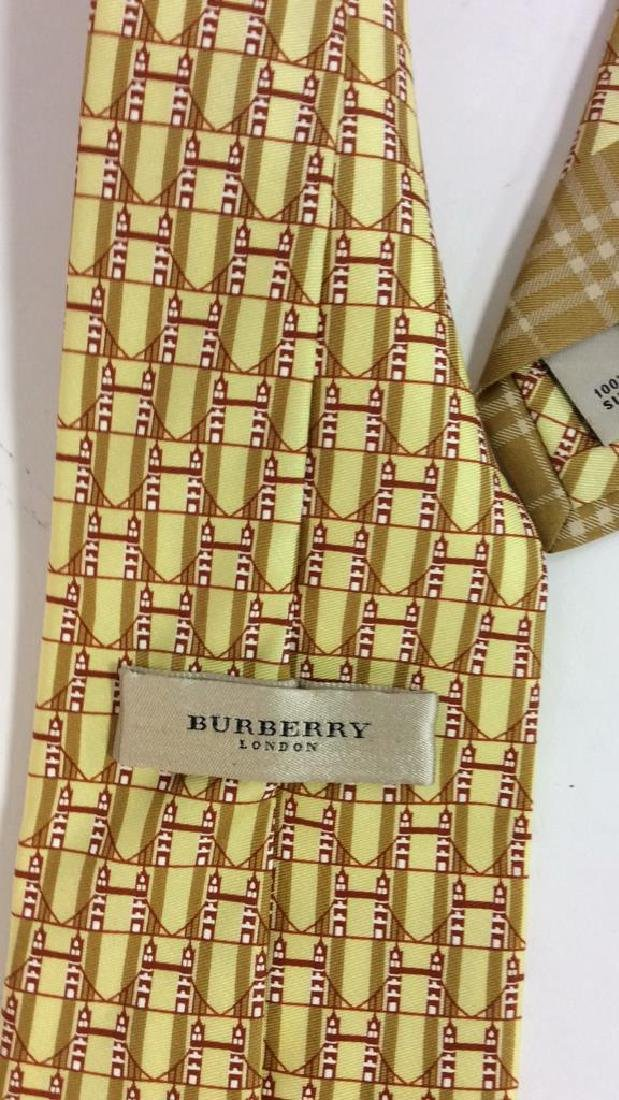 Lot 4 Assorted Gold Toned Ties W Patterns - 7
