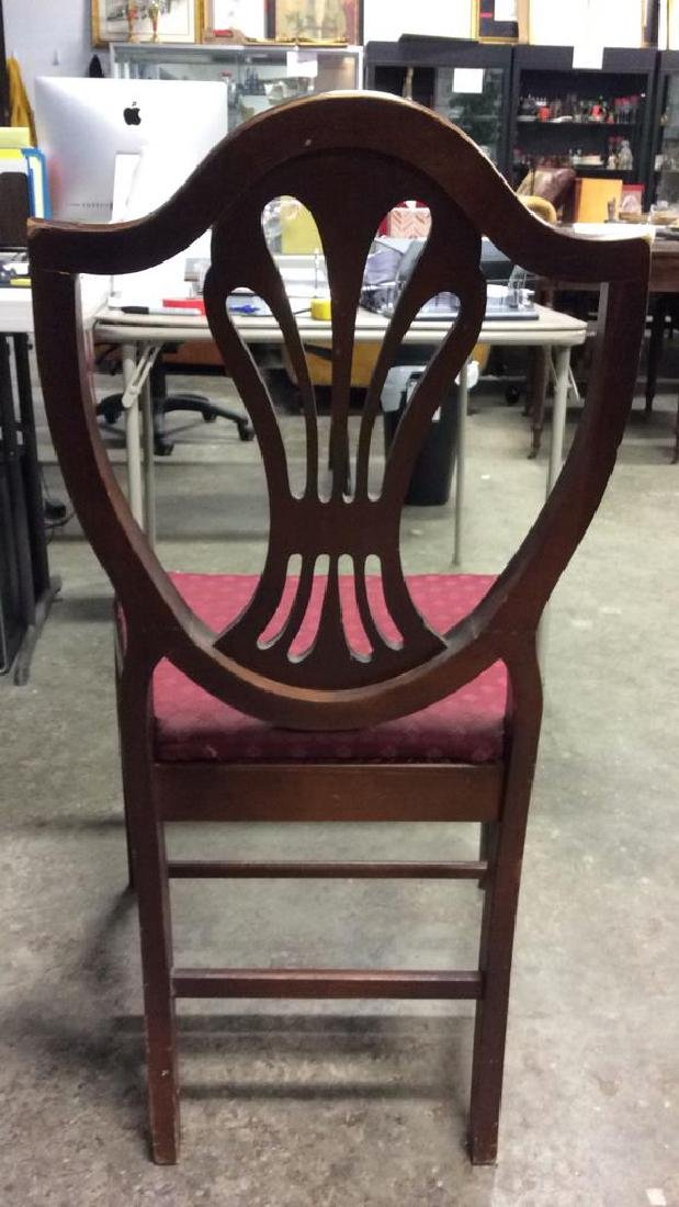 Lot 4 Wooden Floral Detailed Side Chairs - 7