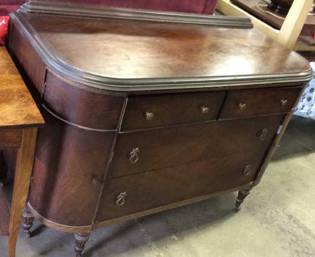 Vintage Empire Style Chest Case Piece w Mirror - 2