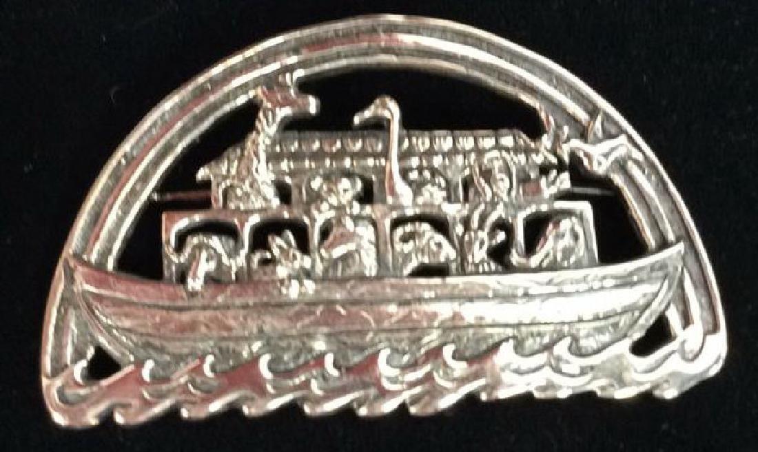 HAND&HAMMER SILVERSMITHS Noah's Ark Sterling Pin